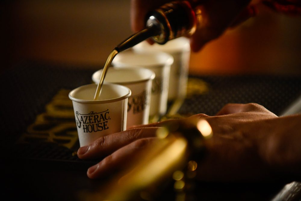Complimentary Samples Being Poured for guests