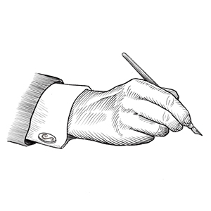 Hand and Pen illustration