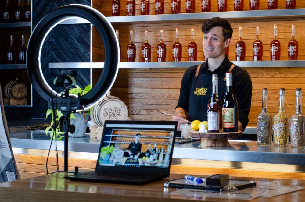 Virtual Behind the Scenes Shot of Matt Ray, Cocktail Expert
