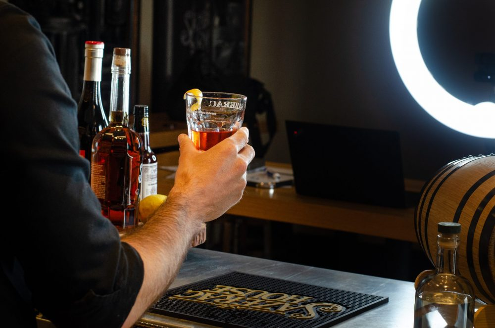 Cheers with a Sazerac Cocktail