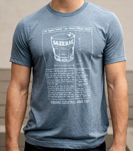 Man wearing Sazerac cocktail shirt